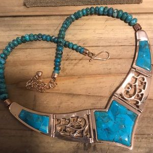 Jay King DTR Mine Finds Turquoise Copper Necklace